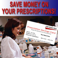 Save money on Precription meds at your pharmacy