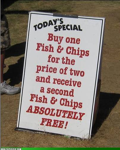 fish buy two get one